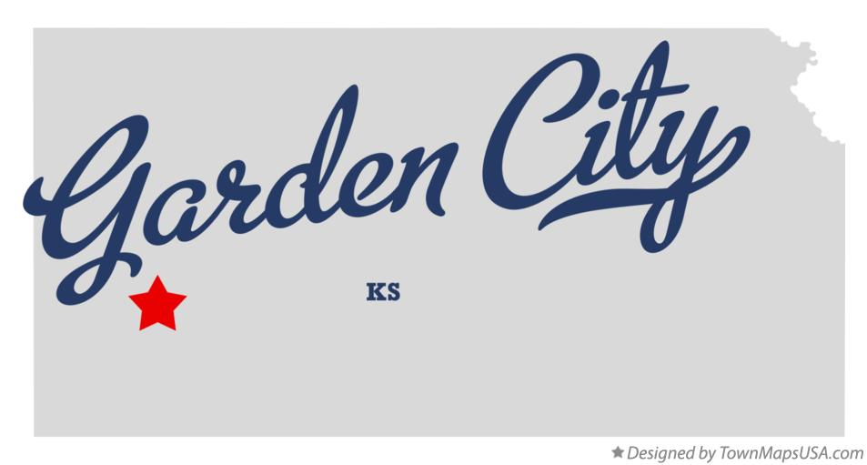 Map of Garden City Kansas KS