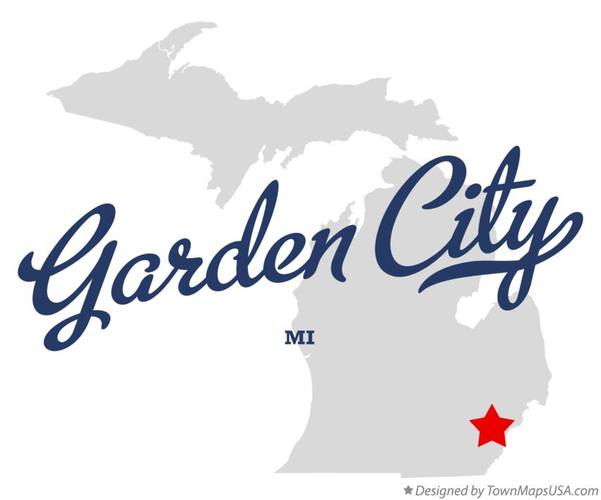 Map of Garden City Michigan MI