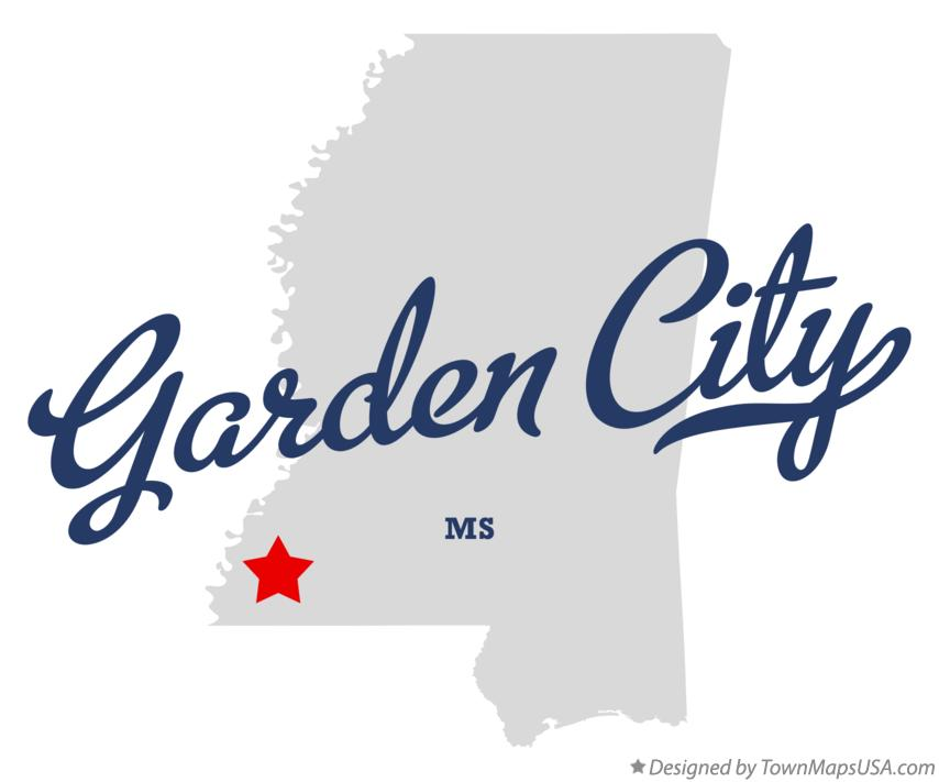 Map of Garden City Mississippi MS