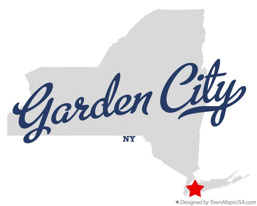 Map of Garden City New York NY