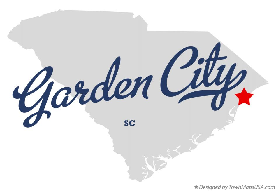 Map of Garden City South Carolina SC