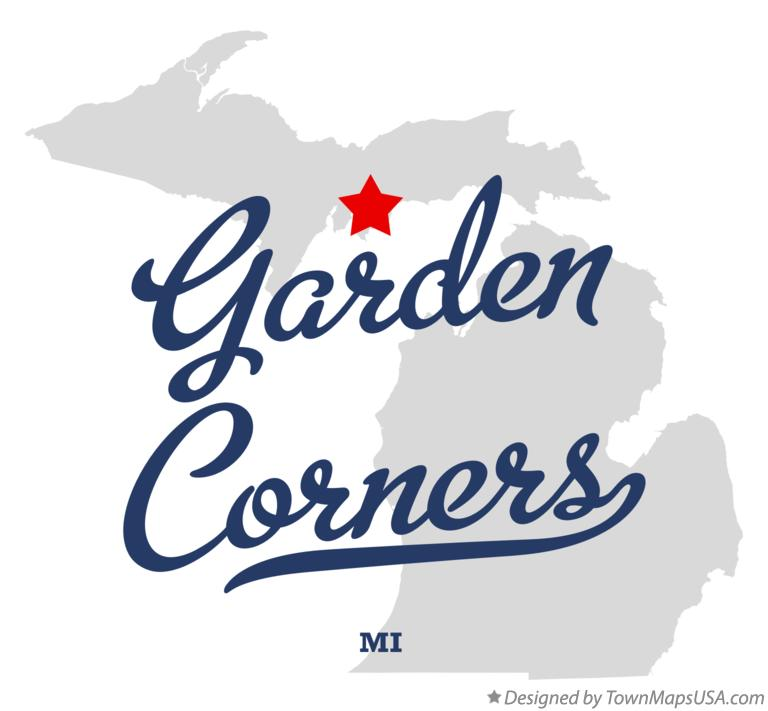 Map of Garden Corners Michigan MI