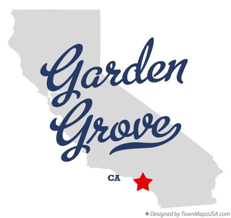 ... Map Of Garden Grove CA California