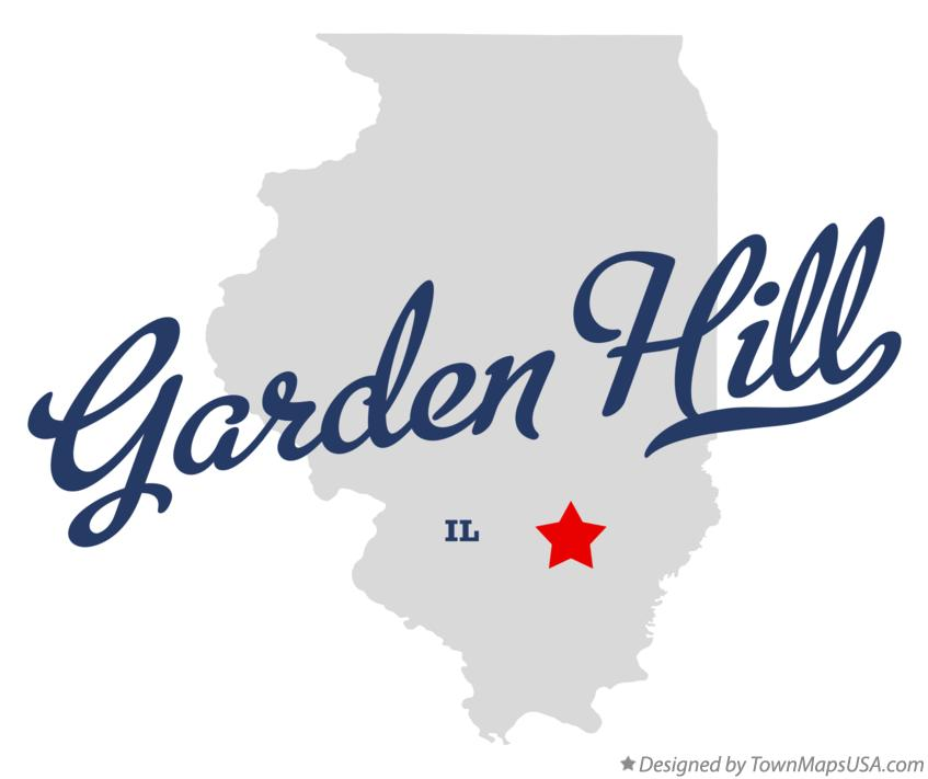 Map of Garden Hill Illinois IL