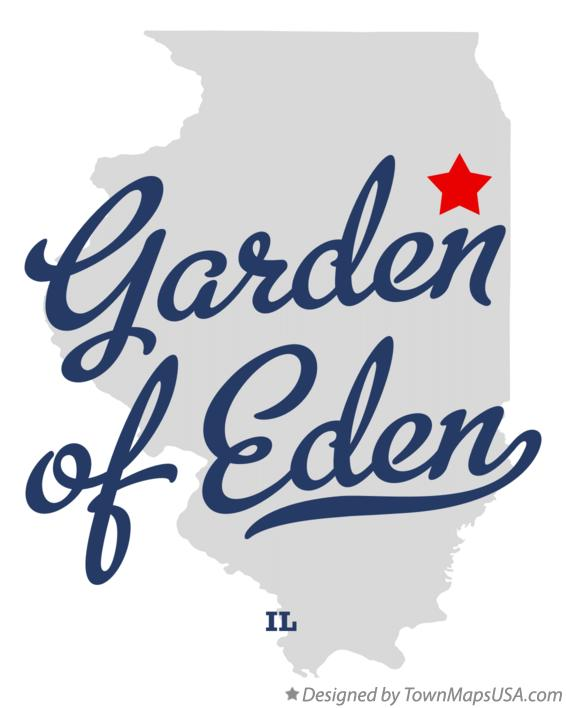 Map of Garden of Eden Illinois IL