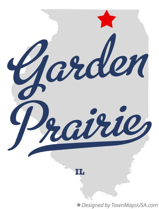 Map of Garden Prairie Illinois IL