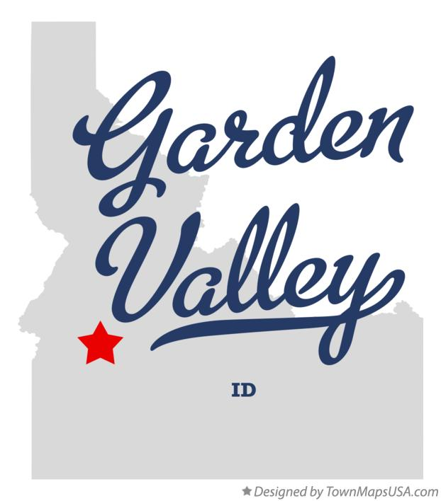 Map of Garden Valley Idaho ID