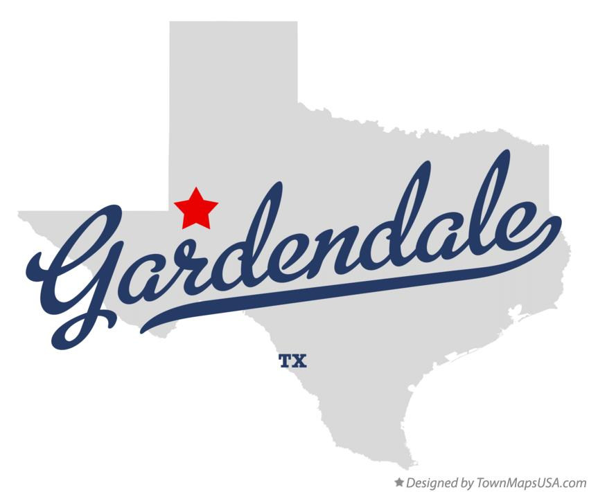 Map of Gardendale Texas TX