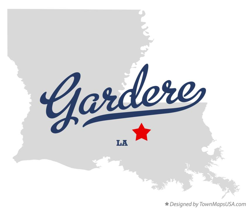 Map of Gardere Louisiana LA