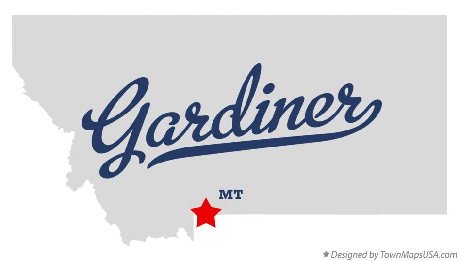 Map of Gardiner Montana MT