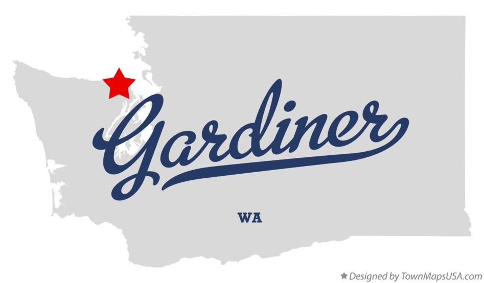 Map of Gardiner Washington WA