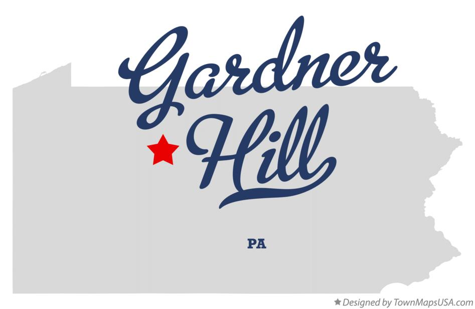 Map of Gardner Hill Pennsylvania PA