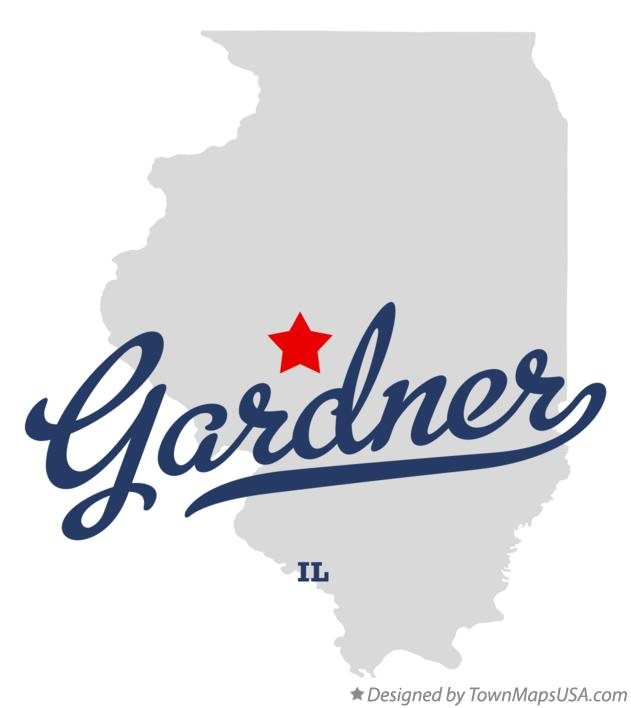Map of Gardner Illinois IL