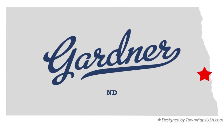 Map of Gardner North Dakota ND