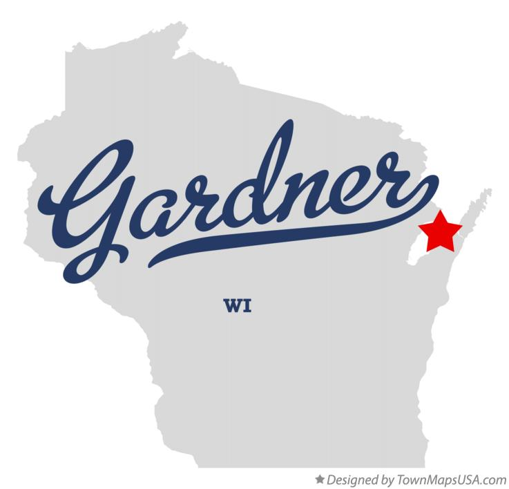 Map of Gardner Wisconsin WI