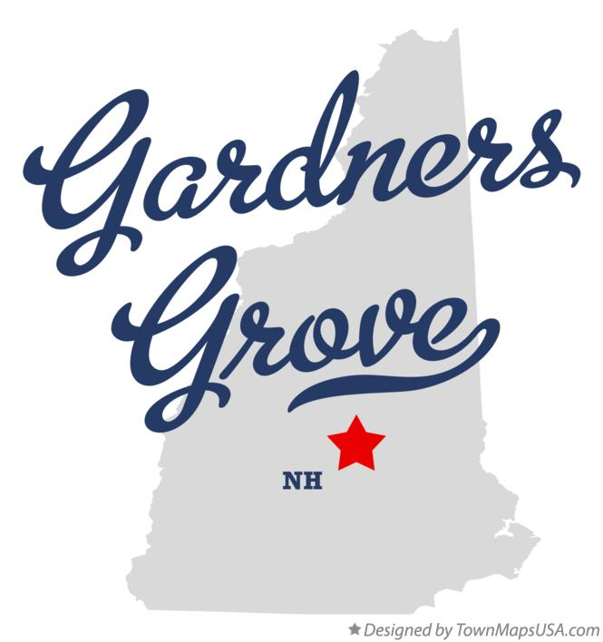 Map of Gardners Grove New Hampshire NH