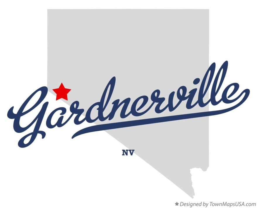 Map of Gardnerville Nevada NV