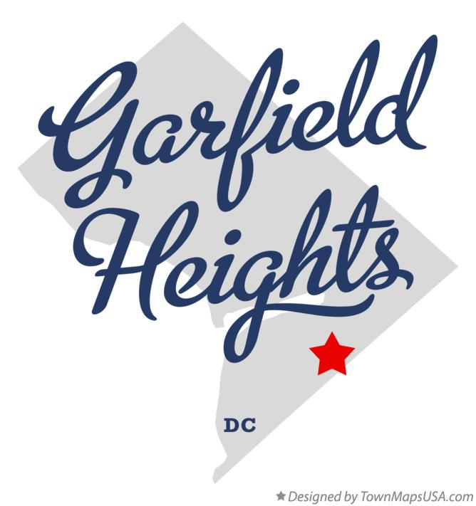 Map of Garfield Heights District Of Columbia DC