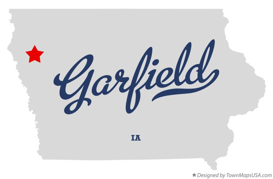Map of Garfield Iowa IA