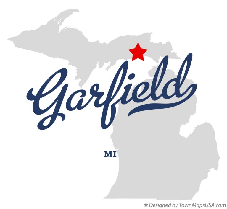 Map of Garfield Michigan MI