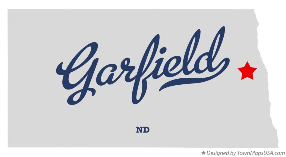 Map of Garfield North Dakota ND