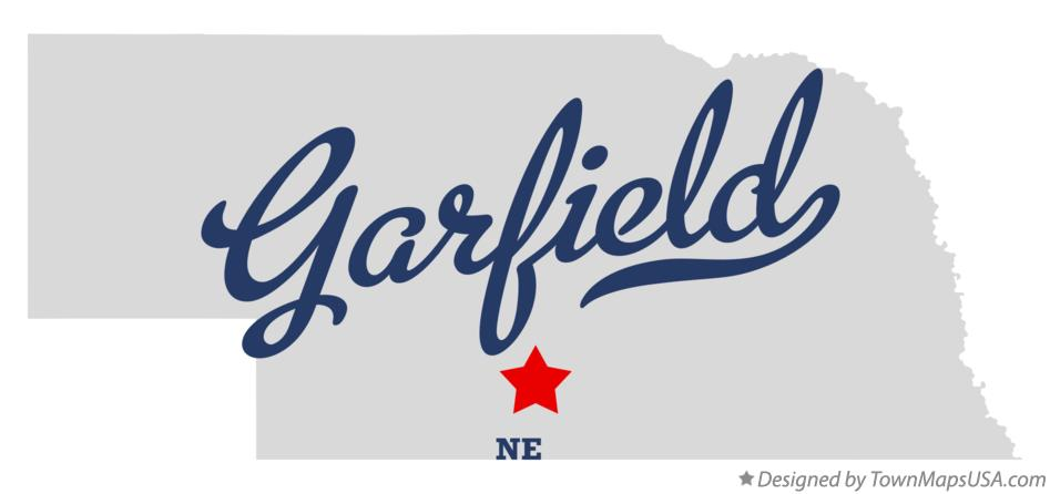 Map of Garfield Nebraska NE