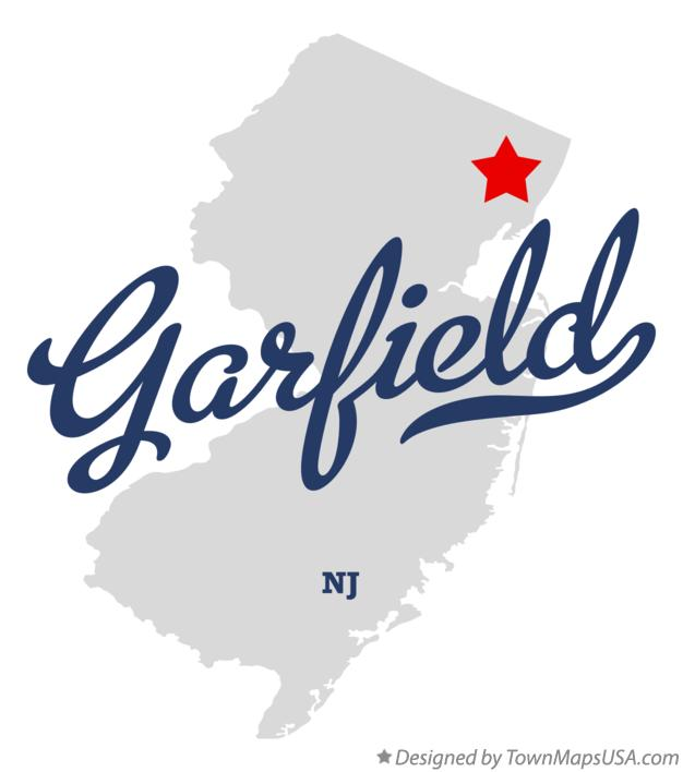 Map of Garfield New Jersey NJ