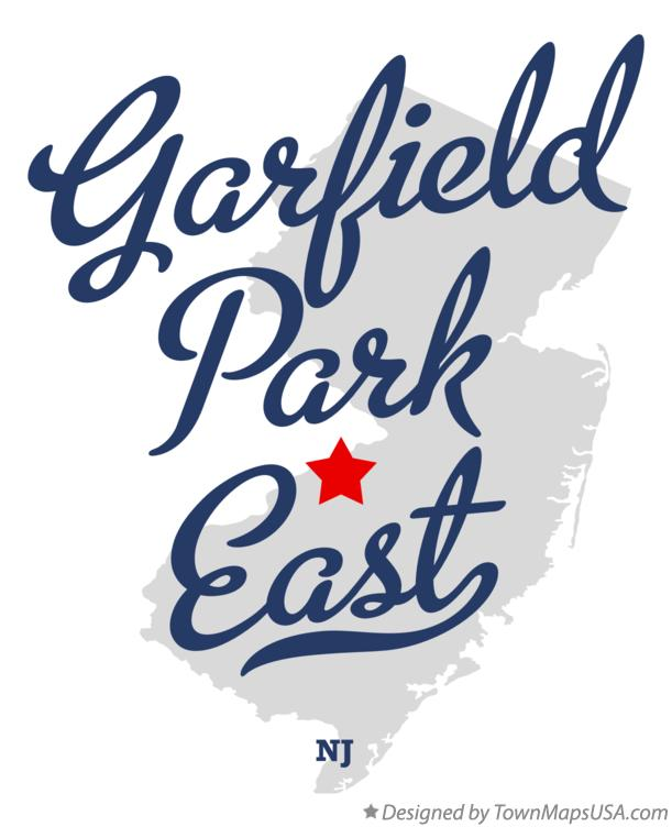 Map of Garfield Park East New Jersey NJ