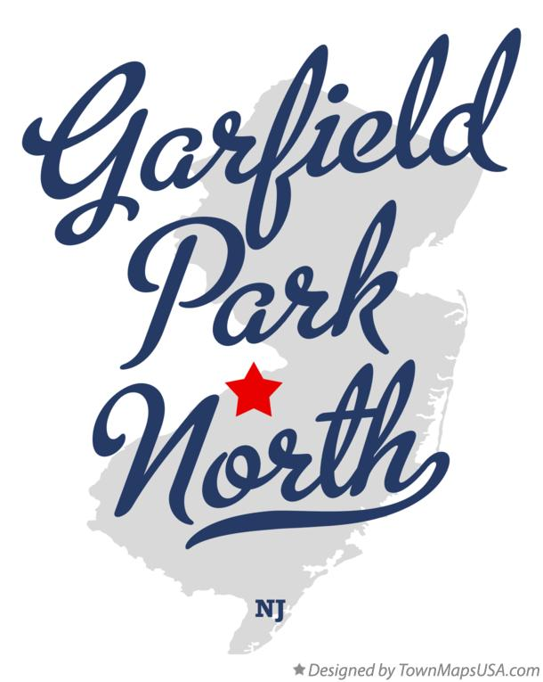 Map of Garfield Park North New Jersey NJ