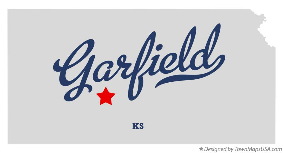 Map of Garfield Kansas KS