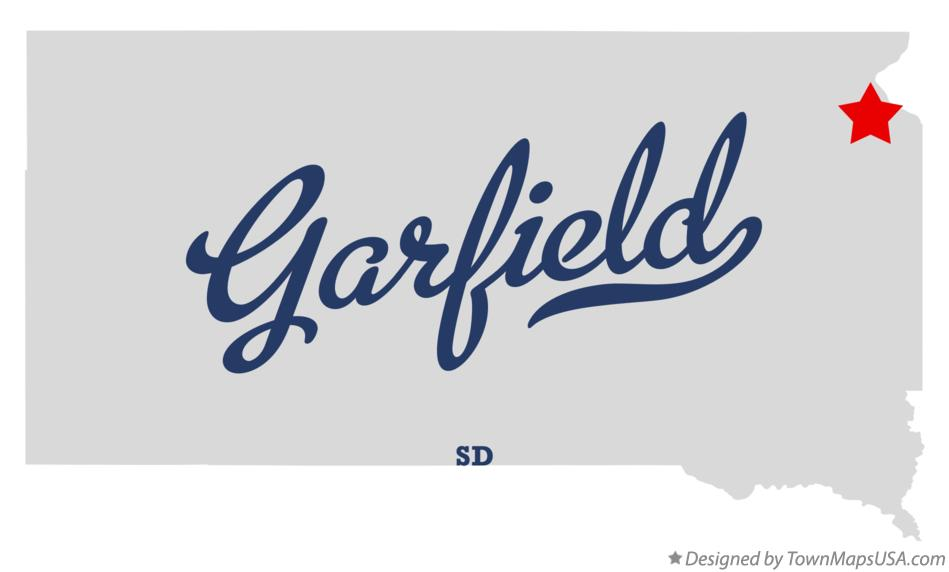 Map of Garfield South Dakota SD