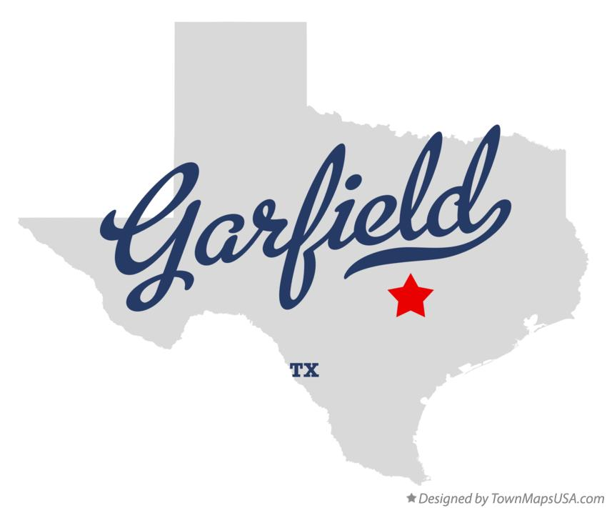 Map of Garfield Texas TX