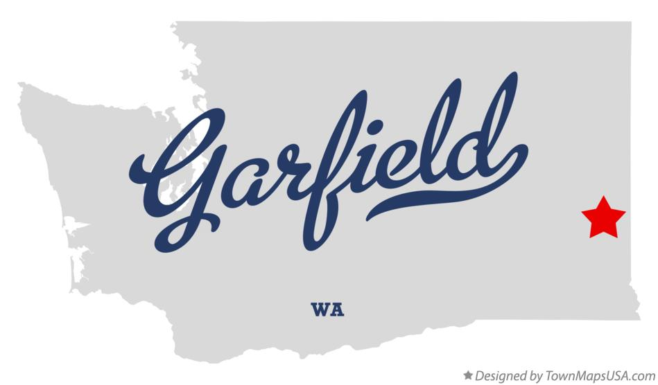 Map of Garfield Washington WA