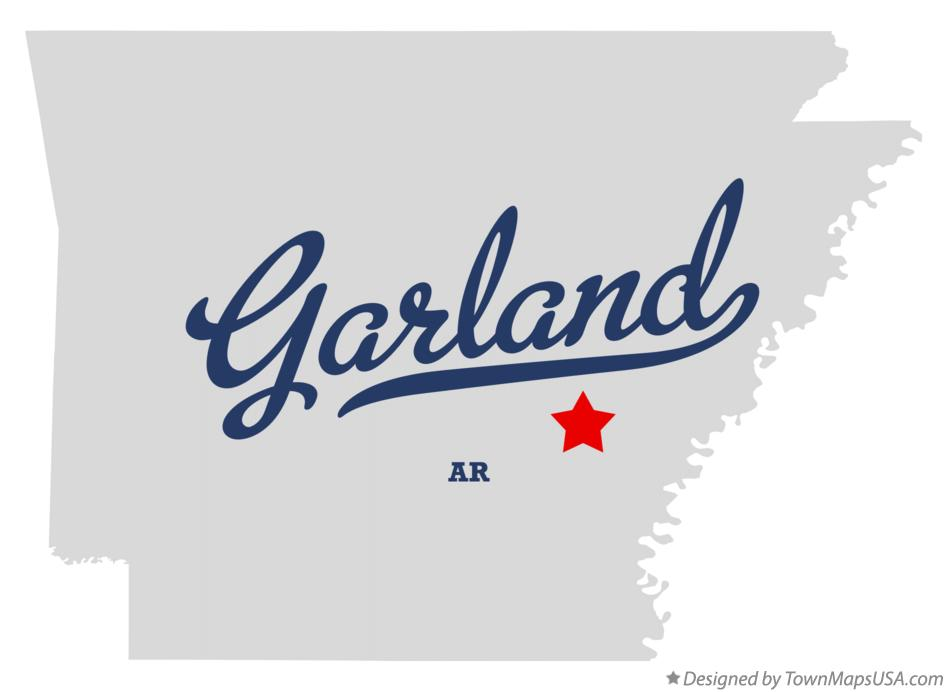 Map of Garland Arkansas AR