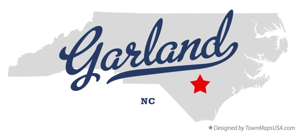 Map of Garland North Carolina NC