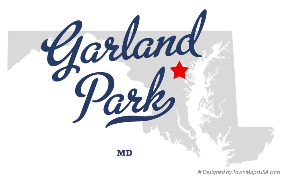 Map of Garland Park Maryland MD
