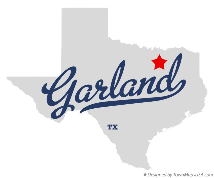 Map of Garland Texas TX