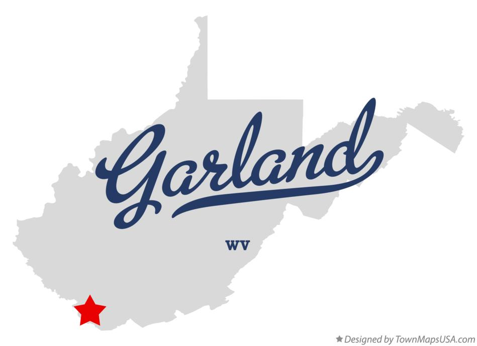 Map of Garland West Virginia WV