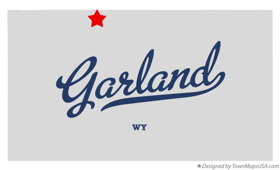 Map of Garland Wyoming WY