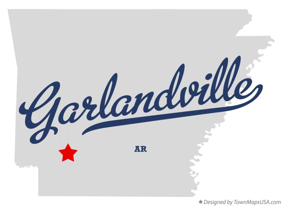 Map of Garlandville Arkansas AR