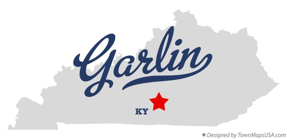 Map of Garlin Kentucky KY
