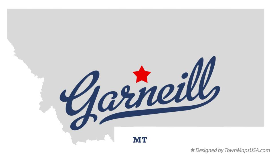 Map of Garneill Montana MT