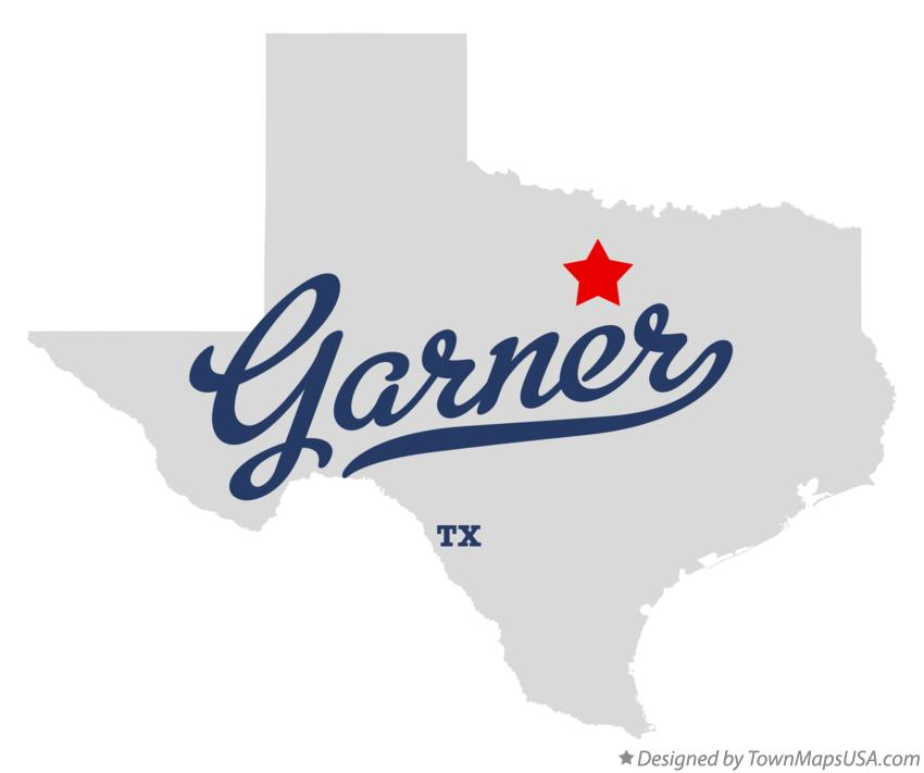 Map of Garner Texas TX