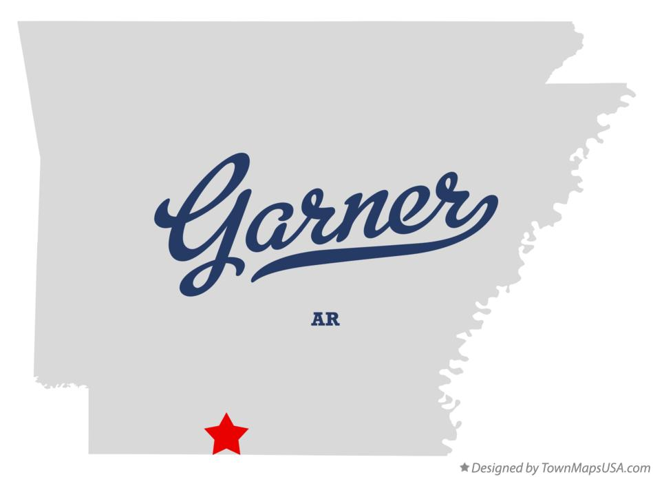 Map of Garner Arkansas AR