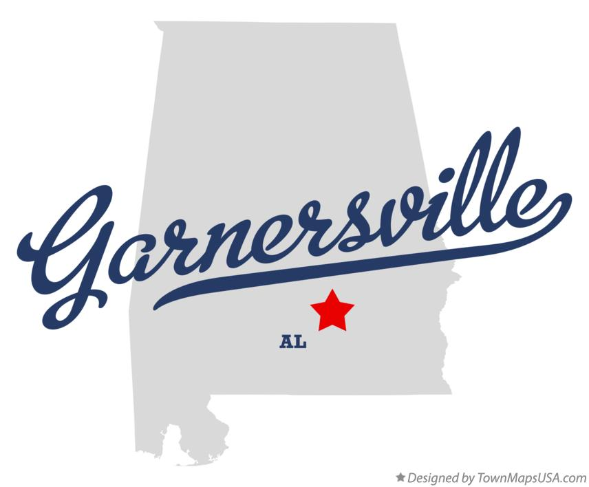 Map of Garnersville Alabama AL