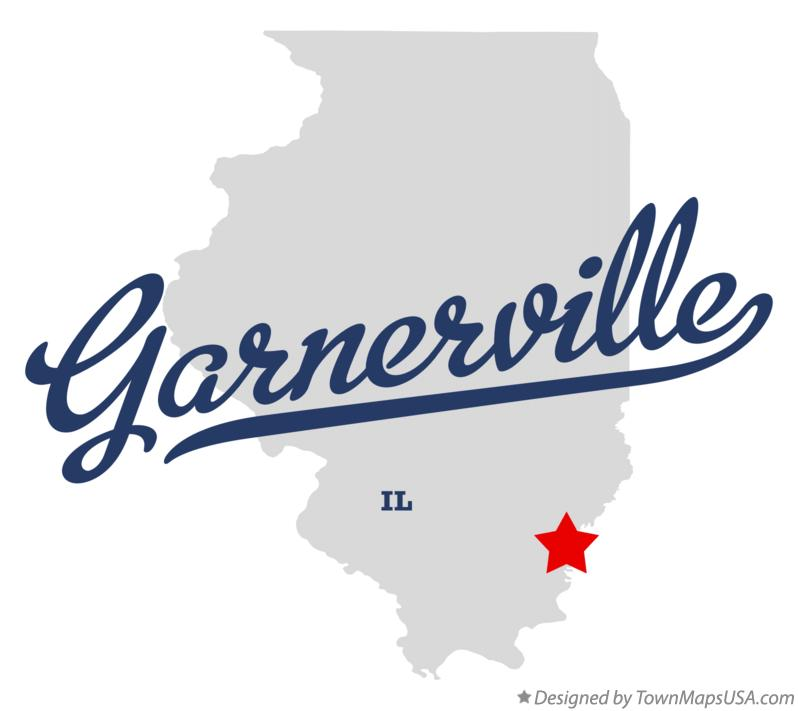 Map of Garnerville Illinois IL