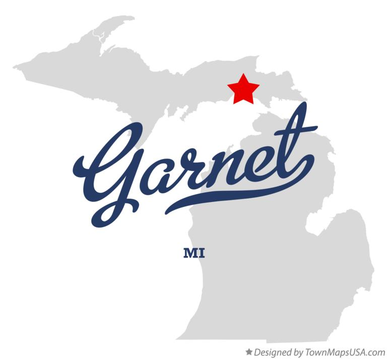 Map of Garnet Michigan MI