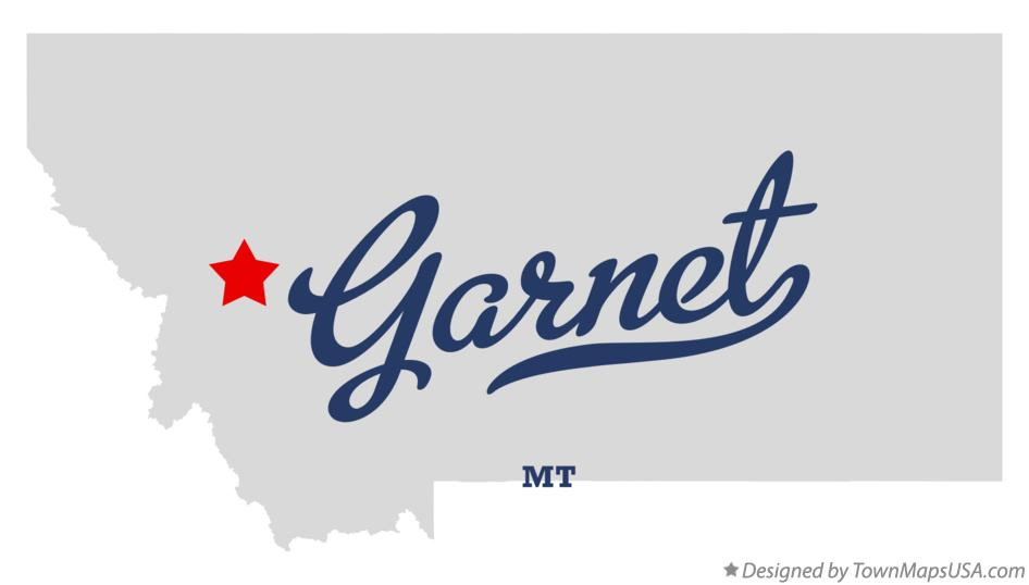 Map of Garnet Montana MT