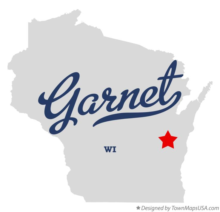 Map of Garnet Wisconsin WI