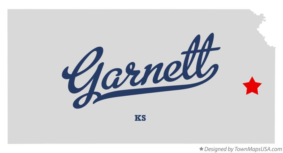 Map of Garnett Kansas KS